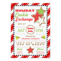 Holiday Christmas Cookie Exchange Invitation