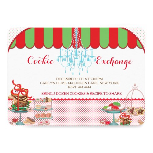 Holiday Christmas Cookie Exchange Party Invitation