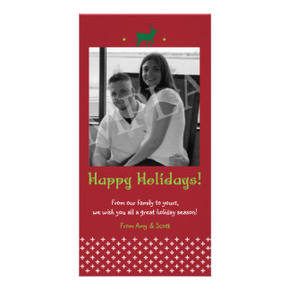 Holiday Christmas Family Photocard wiht Deer Photo Card