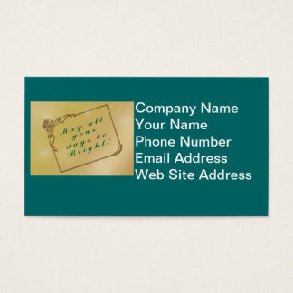 Holiday, Christmas May All Your Days Be Bright Business Card