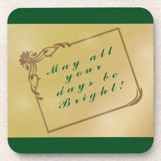 Holiday, Christmas May All Your Days Be Bright Coaster