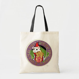 Holiday Christmas Mouse Canvas Bags
