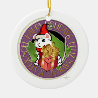Holiday Christmas Mouse Christmas Ornament