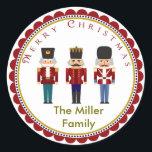 "Holiday Christmas Nutcracker Trio Stickers Labels<br><div class=""desc"">Holiday Christmas Nutcracker Trio Stickers Labels</div>"