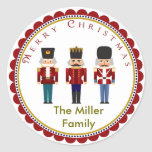"Holiday Christmas Nutcracker Trio Stickers Labels<br><div class=""desc"">Holiday Christmas Nutcracker Trio Stickers Labels</div>"