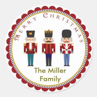 Holiday Christmas Nutcracker Trio Stickers Labels
