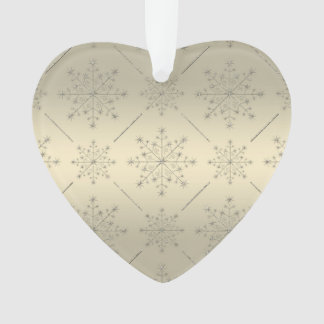Holiday Christmas Ornament - Silver N Gold Glitter