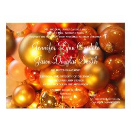 Holiday Christmas Ornaments Wedding Invitations