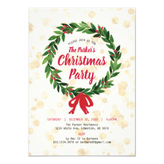 Holiday / Christmas Party Invitation Card