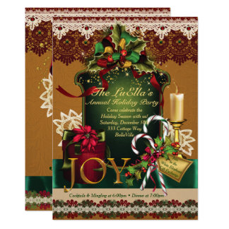 Holiday Christmas Party Invitations