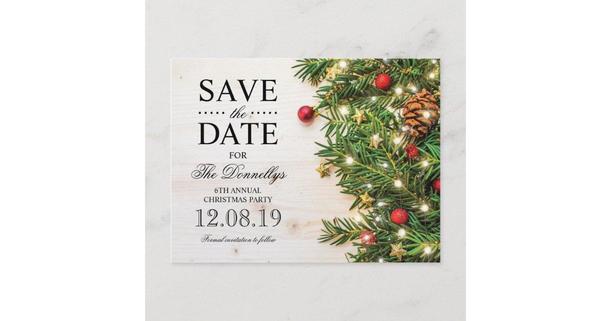 Holiday Christmas Party.Holiday Christmas Party Save The Date Announcement Postcard Zazzle Com