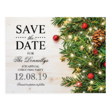 Holiday Christmas Party Save the Date Postcard