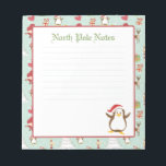 """Holiday Christmas Penguin Lined Notepads<br><div class=""""desc"""">Holiday Christmas Penguin Lined Notepads. This holiday notepad was made for your notes during the busy holiday season.</div>"""