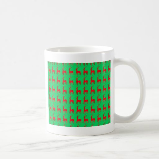 Holiday Christmas ribbons new year Red Green Flora Coffee Mugs