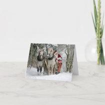 Holiday Christmas Santa Horses