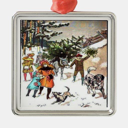 Holiday Christmas Snow Ornament
