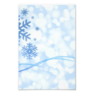 Holiday Christmas Snowflake Design Blue White Photo