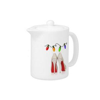 Holiday Christmas Tea Pot