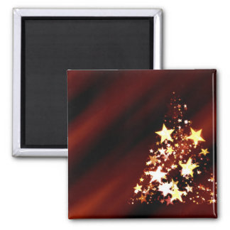 Holiday Christmas Tree 2 Inch Square Magnet