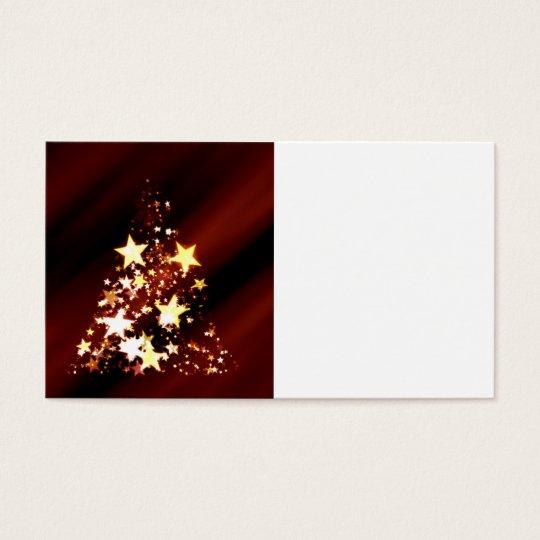 Holiday Christmas Tree Business Card