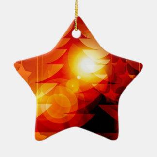 Holiday Christmas Tree Design Ceramic Ornament