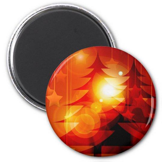 Holiday Christmas Tree Design Magnet