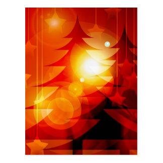 Holiday Christmas Tree Design Postcard