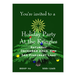 Holiday Christmas Tree Party Card