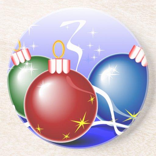 Holiday Christmas Tree Party Destiny Celebration Beverage Coasters