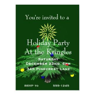 Holiday Christmas Tree Party Custom Invitation