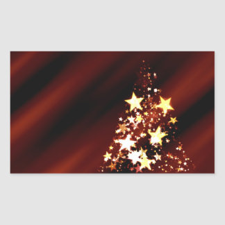 Holiday Christmas Tree Rectangular Sticker