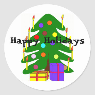 Holiday Christmas Tree Sticker