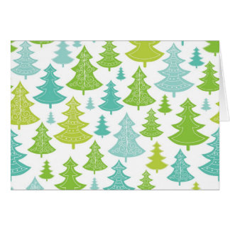 Holiday Christmas Trees Pattern Cards