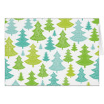 Holiday Christmas Trees Pattern Greeting Card