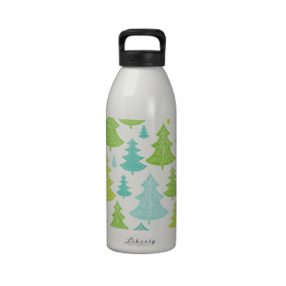 Holiday Christmas Trees Pattern Drinking Bottles