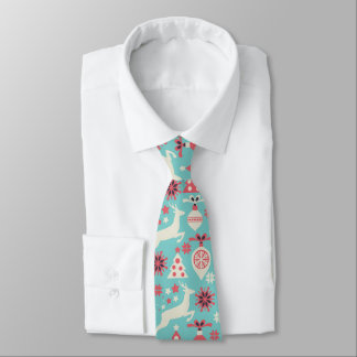 Holiday Christmas Trees, Reindeers, Ornaments Neck Tie