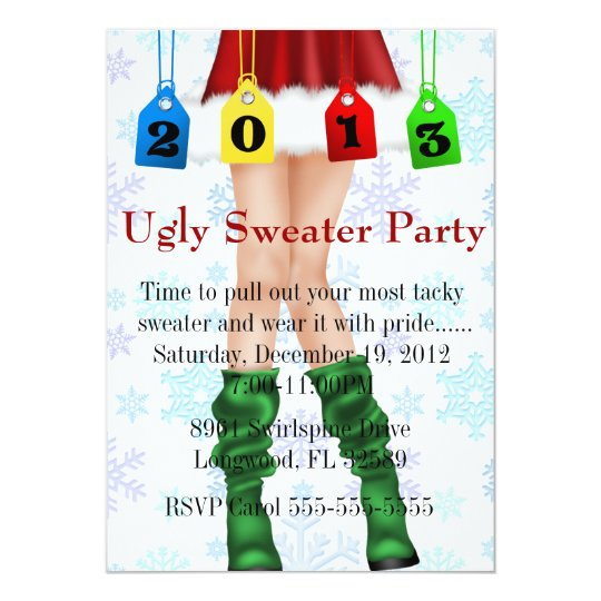 Holiday/Christmas Ugly Sweater Party Card
