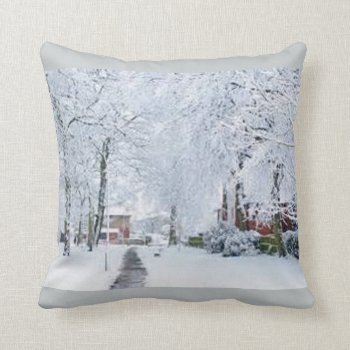 Holiday Christmas Winter Wonderland Throw Pillow by CREATIVEHOLIDAY at Zazzle