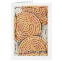 holiday cinnamon spirals recipe card