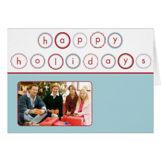 Holiday Circle Banner - Blue Square Picture Card
