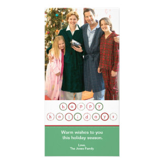 Holiday Circle Banner - Green & Red Photo Card Template
