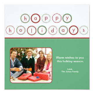 Holiday Circle Banner - Green Square Picture Card