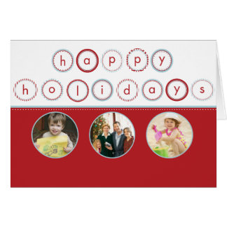 Holiday Circle Banner - Red Circle Pictures Card