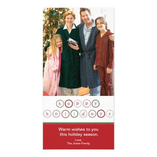 Holiday Circle Banner - Red & Green Card