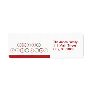 Holiday Circle Banner - Red & Green Label