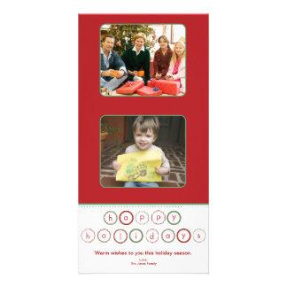 Holiday Circle Banner Squares - Red & Green Card