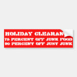 Holiday clearance bumper sticker