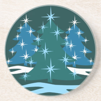 Holiday Coaster Blue Festive Christmas Tree Gift