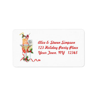Holiday Cocktails Address Label