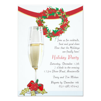 holiday cocktail party invitations  announcements  zazzle, Party invitations